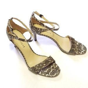 Via Spiga Snake Print Dress Sandals